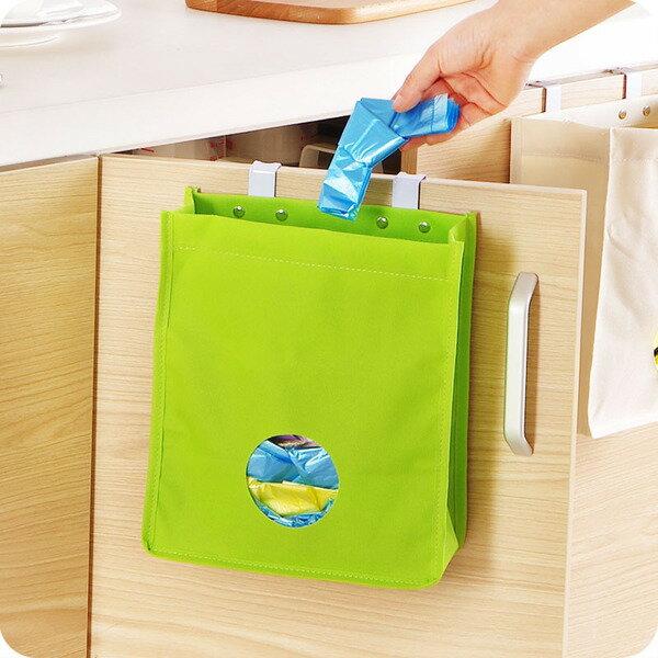 門背式塑膠袋抽取收納袋 (不挑色)