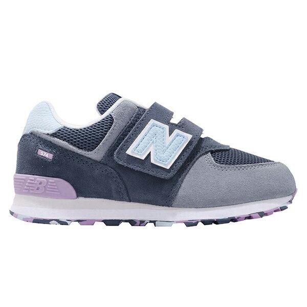 Shoestw【YV574UJA】NEW BALANCE NB574 運動鞋 黏帶 中童鞋 Wide 灰藍淺紫 0