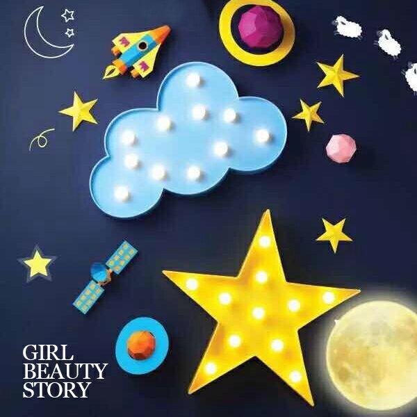 SISI【G7020】長頸鹿、朵朵雲、愛心、星星LED造型燈飾小夜燈生日聖誕節交換禮物
