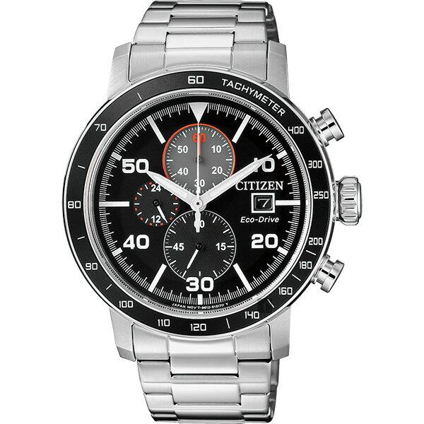 富茂鐘錶 CITIZEN Eco-Drive 光動能賽車計時碼錶 43mm /  CA0641-83E