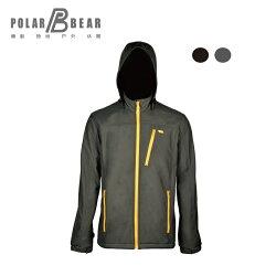 【POLAR BEAR】男WINDSTOPPER SOFT SHELL防風拆帽外套