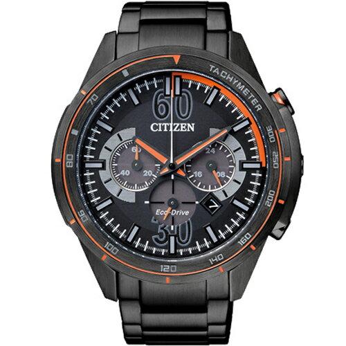 CITIZEN星辰CA4125-56E狩獵蠻荒光動能計時碼表/黑面46mm