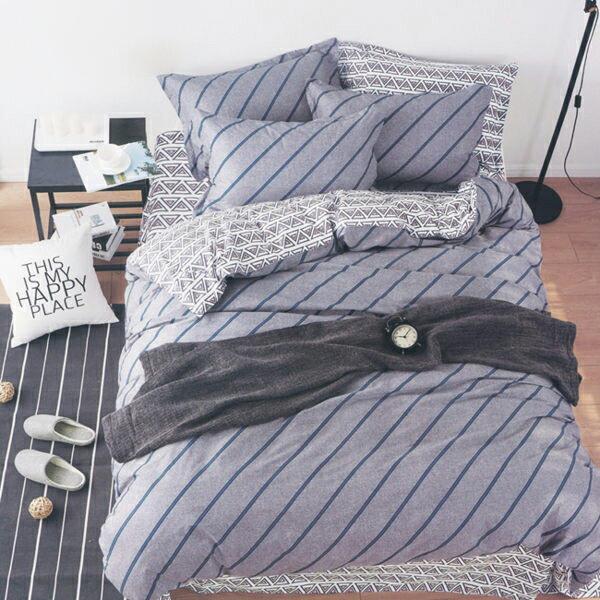 快樂生活網:雙人鋪棉床包兩用被套四件組100%純棉「諾曼底」【YV9167】快樂生活網