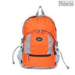【Roberta Juden】小背包背開拉鍊 輕量防潑水布料(R702-亮橘色)【威奇包仔通】