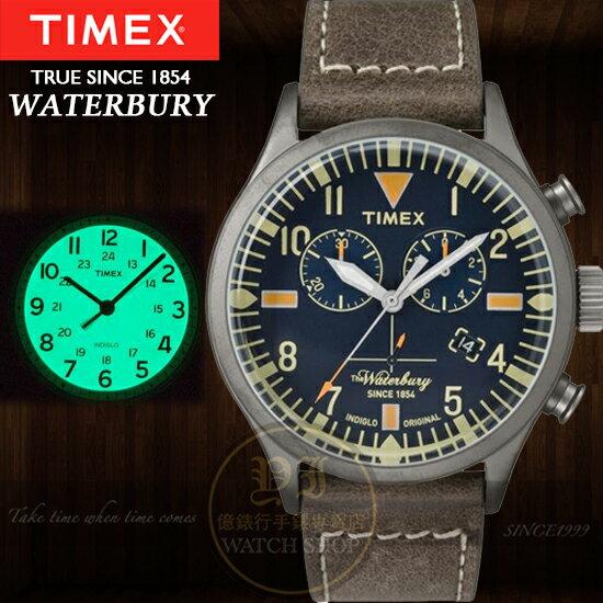 TIMEX美國第一品牌waterbury 160周年限量紀念計時腕錶TXT2P84100公司貨/情人節/禮物