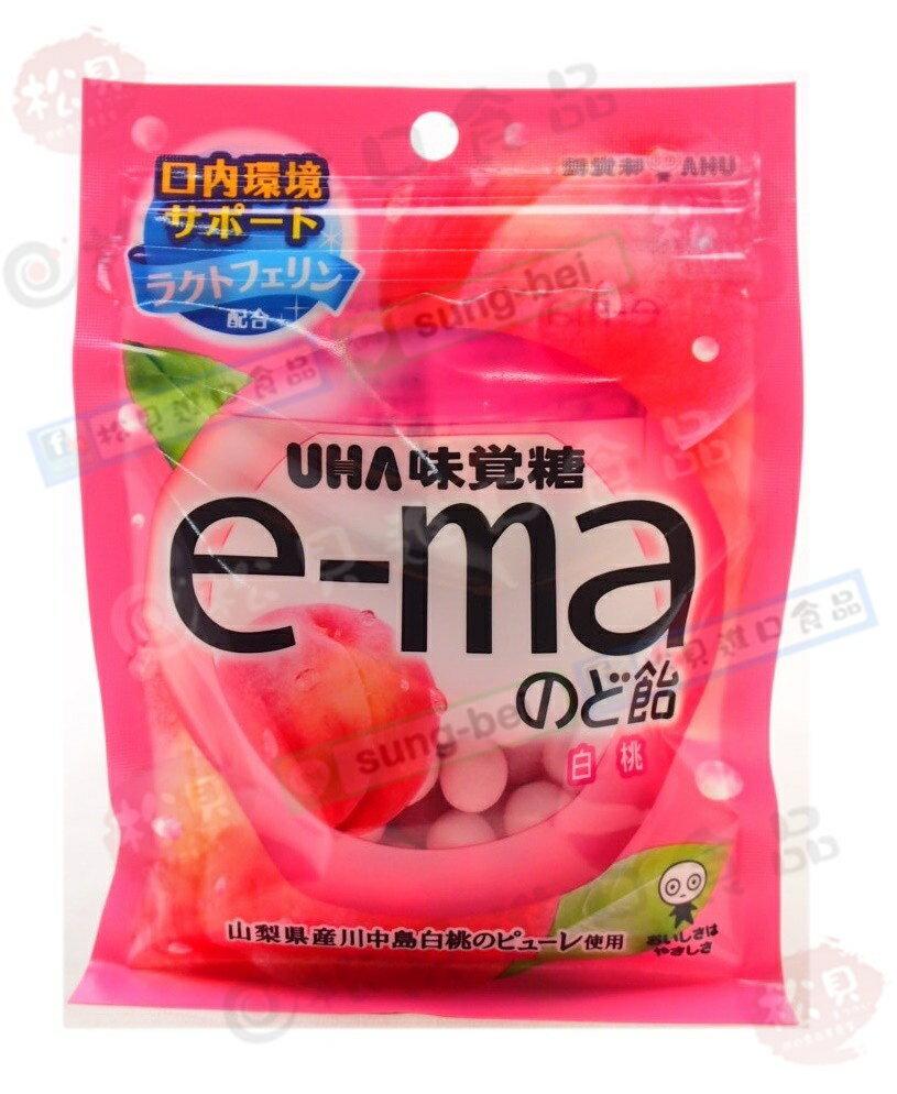 《松貝》味覺e-ma白桃喉糖袋裝50g【4514062263670】cc20