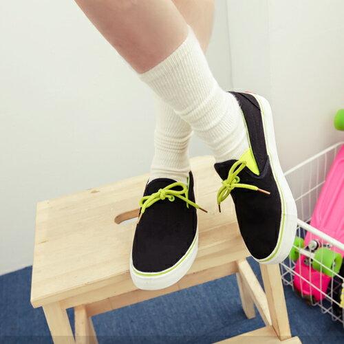 ■現貨速達■黑色35號  平底鞋 簡單設計 舒適百搭款   亮彩配色休閒鞋【P8239】艾咪E舖.購買三雙以上請使用宅配! 1