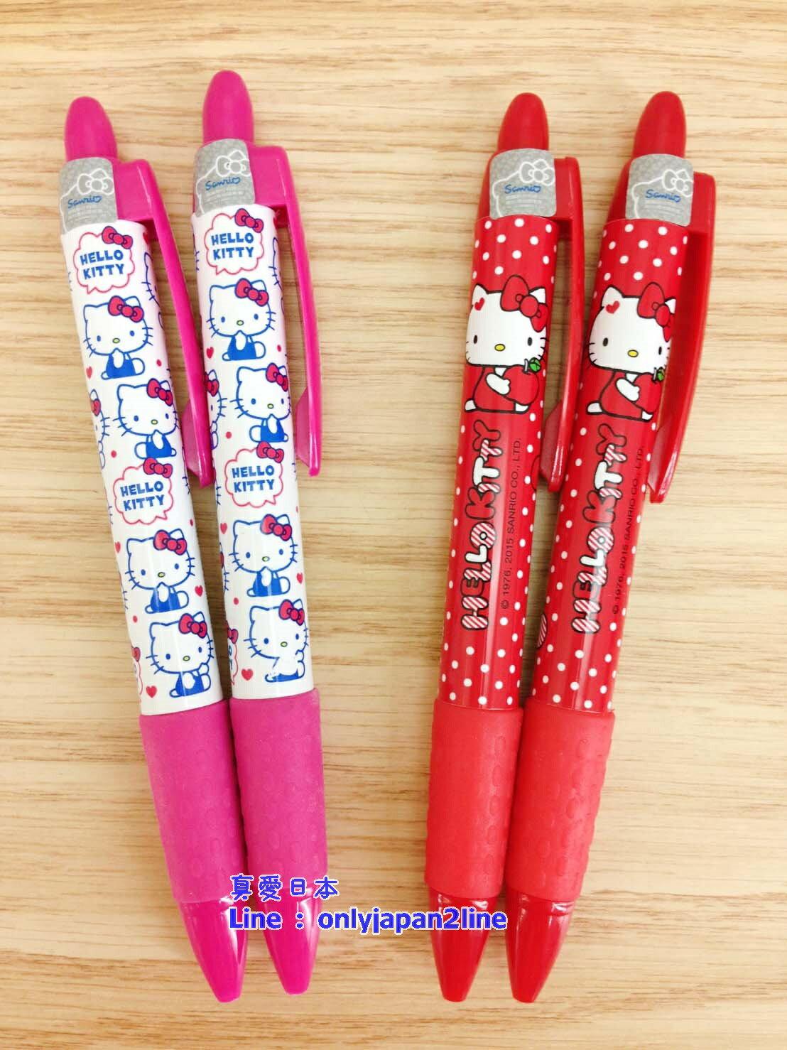 【真愛日本】160615000052入胖管膠套自動鉛筆-2款 三麗鷗 Hello Kitty 凱蒂貓 書寫 文具