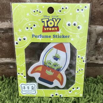 【真愛日本】17072000073 造型香氛貼紙-火箭洋甘菊 玩具總動員 三眼怪 空氣芳香片 可吊掛 黏貼 香氛片