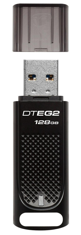 Kingston DataTraveler Elite G2 128GB USB 3.1 (USB3.0) DTEG2 128G Flash Pen Thumb Drive DTEG2/128GB with USB Lanyard 1
