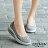 8BD213 預購 氣質鏤空蕾絲面氣墊健走搖搖鞋-紅 / 灰 / 黑 / 藍-36-42【ZALULU愛鞋館】 5