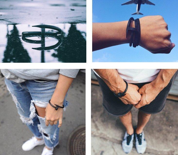 矽膠 鉚釘 手環 運動手環