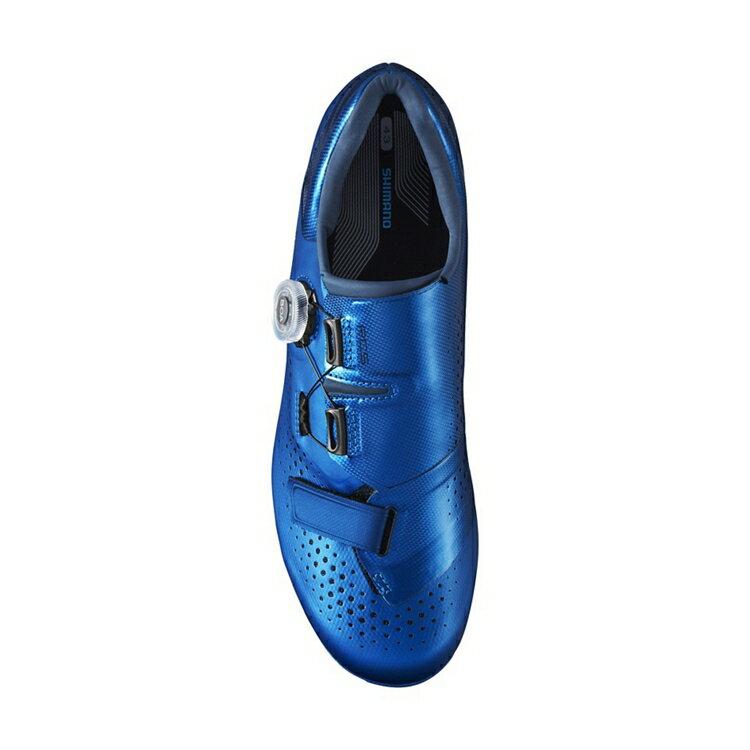 【7號公園自行車】SHIMANO RC5 男性中階公路車鞋(藍色)