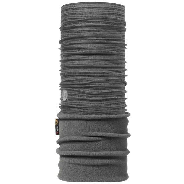 【【蘋果戶外】】BF105663BUFF魔術頭巾黑灰線條織色Polartec二段式保暖纖維保暖圍巾領巾口罩