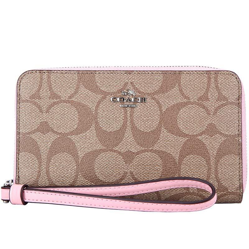 COACH F57468 時尚女士中長款手拿包雙層卡包手機包