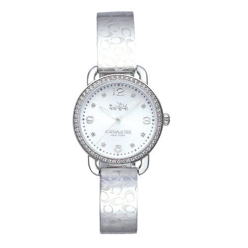 COACH漫步巴黎時尚手鐲腕錶銀14502353