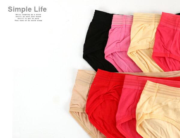 3件199免運【夢蒂兒】棉質低腰簍空平口褲3件組(隨機色) 1
