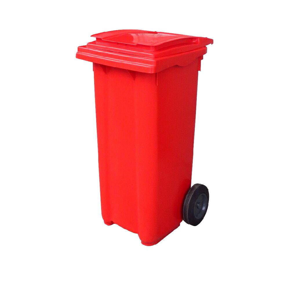 (四色可選)二輪拖桶(120公升)RB-120R 回收桶 垃圾桶 移動式清潔箱 戶外打掃 歐洲認證 環保材質