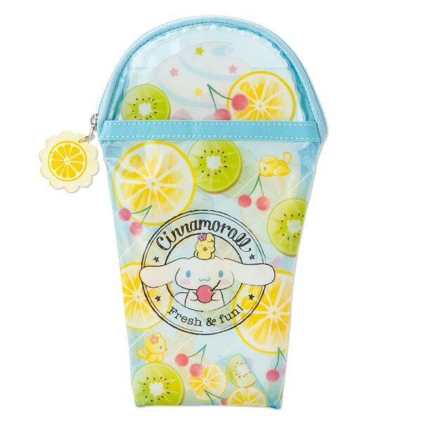 X射線【C797068】大耳狗Cinnamoroll筆袋-水果杯,美妝小物包筆袋面紙包化妝包零錢包收納包皮夾手機袋鑰匙包