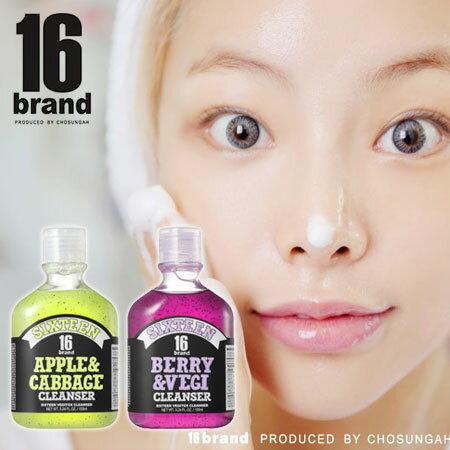 韓國 16 brand 潔淨蔬菜洗顏膠 155ml 洗臉 洗面乳~B061974~