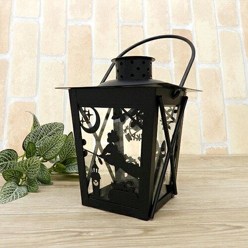 【真愛日本】15121500009 精雕復古手提燭燈-黑貓魔女飛行黑 魔女宅急便 黑貓 奇奇貓 擺飾 居家裝飾
