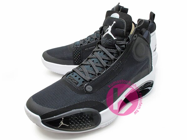 2019-2020 史上最輕 NIKE AIR JORDAN XXXIV 34 PF BLACK WHITE 黑白 新一代 ECLIPSE PLATE 避震科技傳導 前、後 ZOOM 籃球鞋 AJ 4 (BQ3381-001) 1119 1