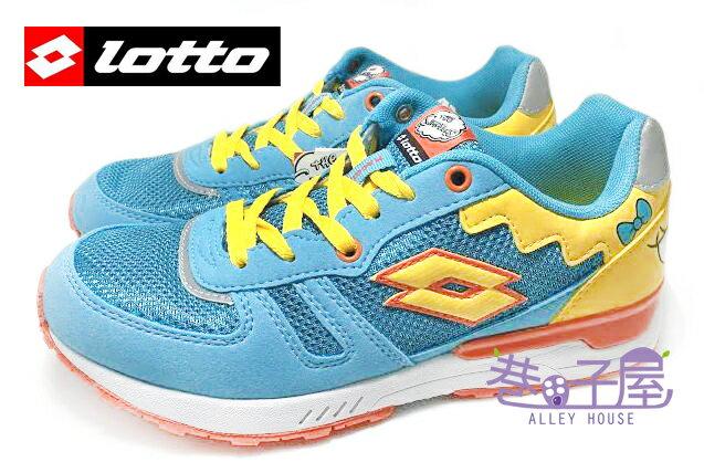 【巷子屋】義大利第一品牌-LOTTO樂得 SIMPSONS辛普森 女款復古風運動慢跑鞋 [2816] 藍綠 超值價$590