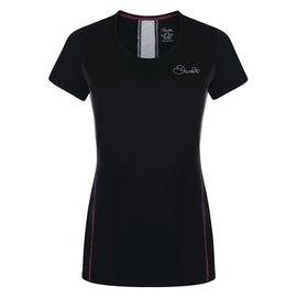 【【蘋果戶外】】『零碼出清』Dare2bDWT404黑女英國進口名牌服飾愛絲沛彈短圓領排汗衣WOMEN''SASPECTTEE