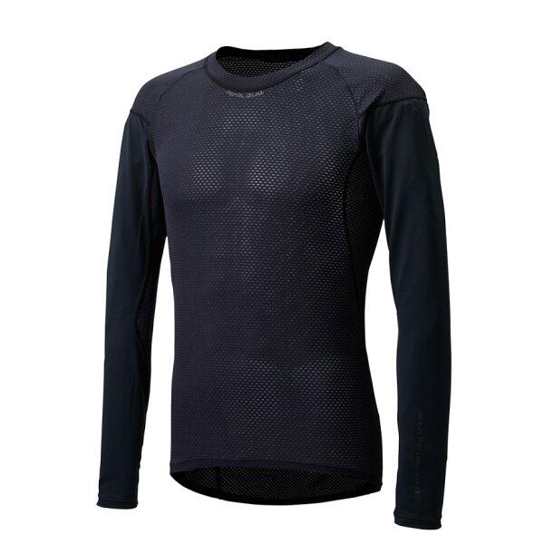 【7號公園自行車】PEARLIZUMI118-7基本款男性長袖排汗衣(黑)