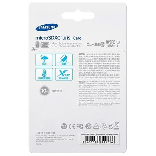 Samsung EVO 64GB microSDXC Class 10 48Mb/s 64G microSD micro SD SDXC UHS-I U1 C10 MB-MP64DA with Original SD Adapter 2