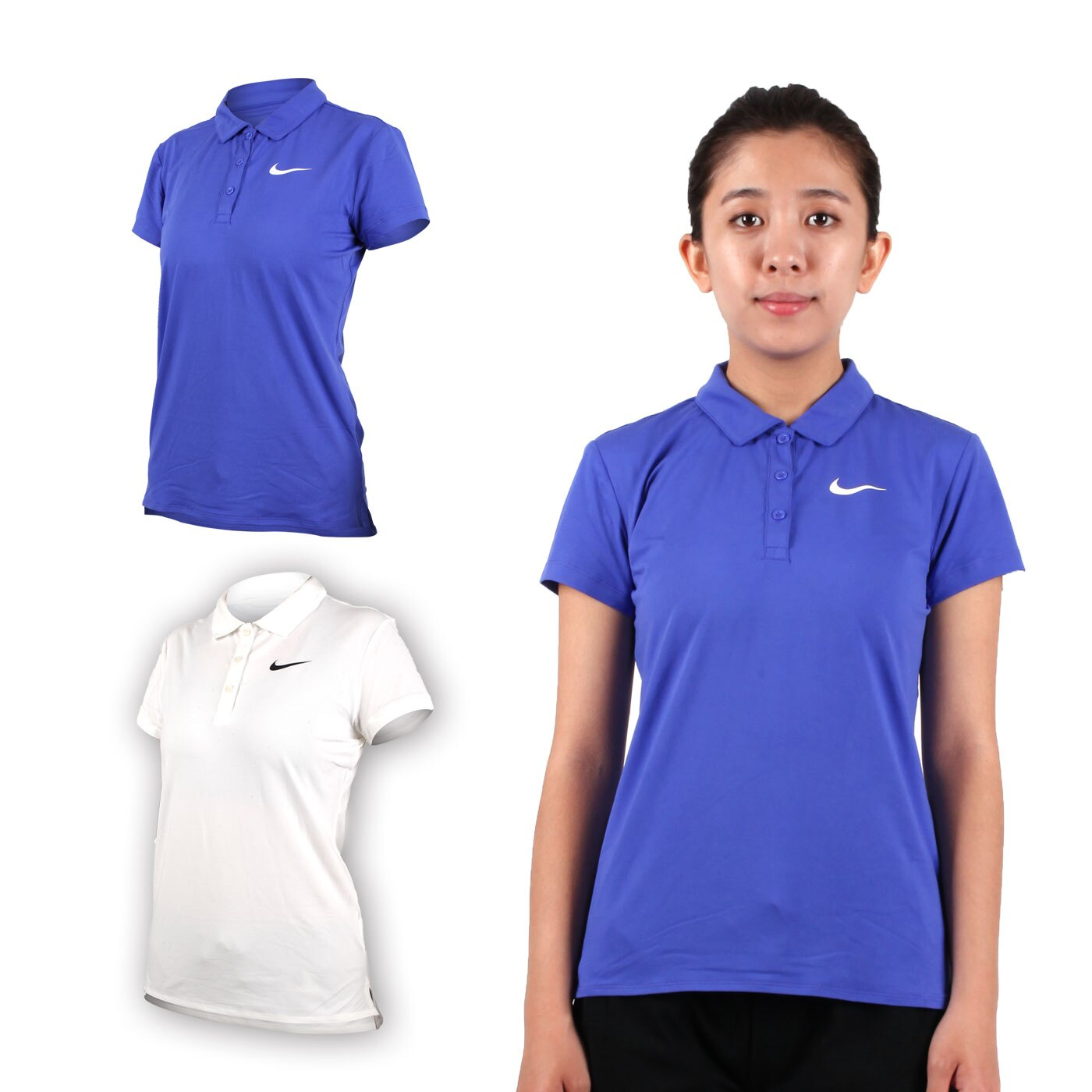 NIKE 女子短袖針織POLO衫(立領 慢跑 路跑【03312605】≡排汗專家≡