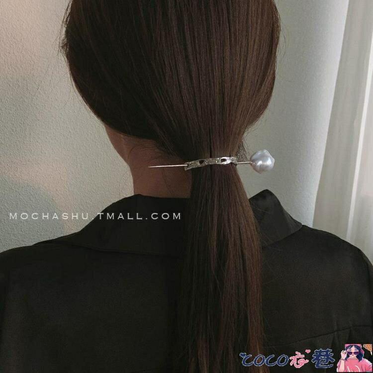 【兩個裝】髮簪 歐美極簡時尚髮簪簪子現代叉子丸子頭盤髮神器髮卡懶人髮飾女 摩可美家
