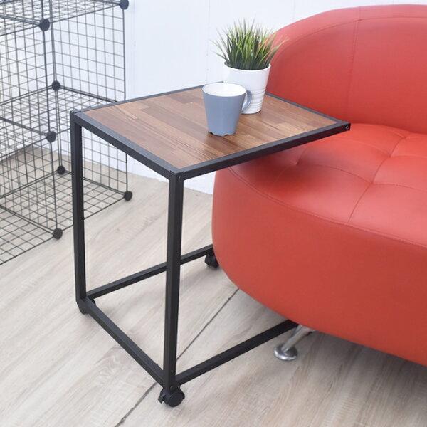 凱堡傢俬生活館:凱堡工業風集成木紋側桌邊桌防潑水附輪【P10035】