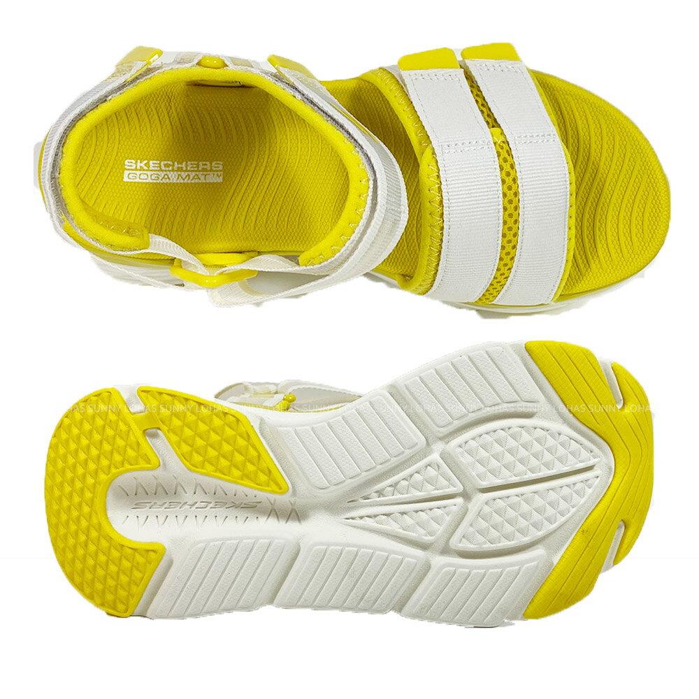 SKECHERS 女鞋 MAX CUSHIONING 涼拖鞋 厚底涼鞋 輕量Q彈140424WYL夏日黃 [陽光樂活](C5)