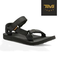 《台南悠活運動家》TEVA 女 Original 經典緹花織帶涼鞋 1003987BLK 黑