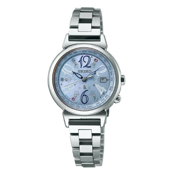 Seiko Lukia 1B25-0AF0S(SSVV009J)限量藍銀太陽能電波腕錶/藍面28mm