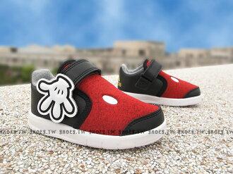 Shoestw【AF3999】ADIDAS 迪士尼系列 小童鞋 米奇 紅黑 黏帶