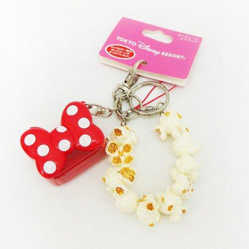 【真愛日本】14121900026 樂園限定鎖圈-爆米花筒米妮 迪士尼 米老鼠 米奇 米妮 鑰匙圈 日本帶回