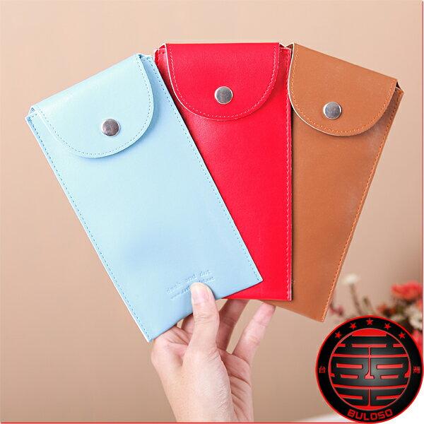 《不囉唆》韓國Mellow Dot pen Case 3色11000長筒皮革筆袋(不挑色/款)【A207836】