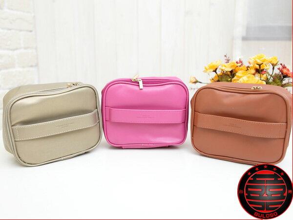 《不囉唆》3色22500皮革手提式多功能化妝包 包中包 收納包【A216555】
