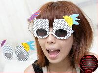 愚人節 KUSO療癒整人玩具周邊商品推薦《不囉唆》LADY GAGA 著用 格子杯太陽眼鏡 搞怪眼鏡 kuso眼鏡【A220323】
