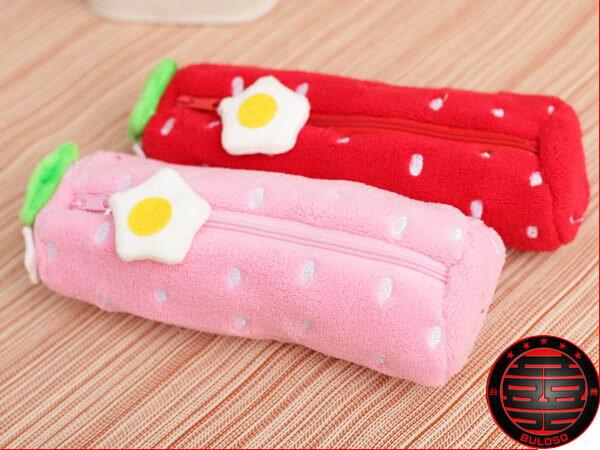 ~不囉唆~~A230049~^(不挑色^) 韓國文具 8吋^(20.32cm^)2色草莓筆