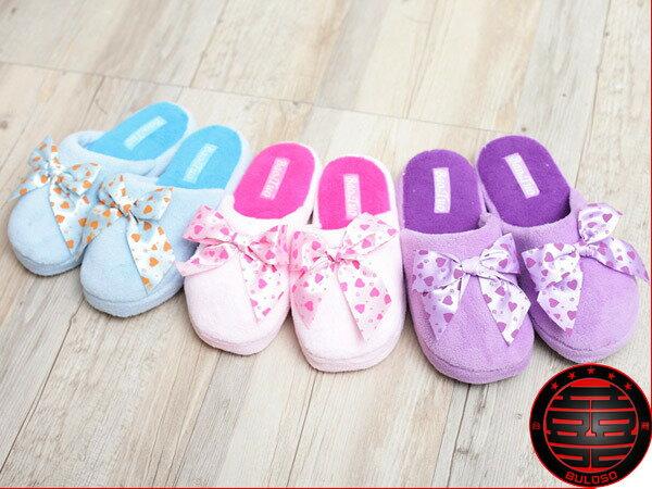 《台中不囉唆》【A230421】(不挑色)VIVI日系可愛保暖室內鞋 3色珊瑚絨絲帶蝴蝶結室內拖鞋