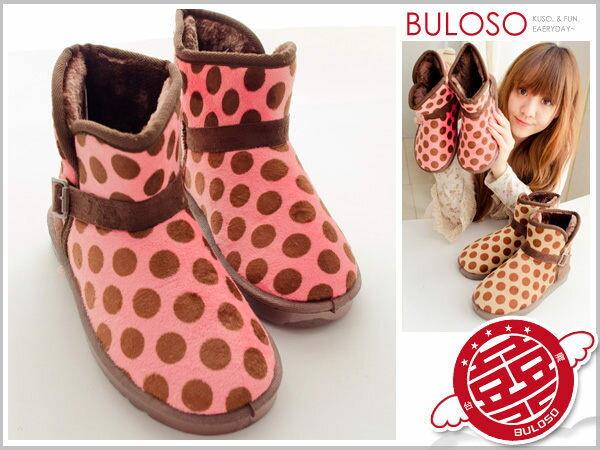 《不囉唆》【A236720】(不挑色) 日系可愛保暖靴 2色1202圓點雪靴 造型靴子 5size