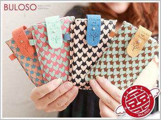 《不囉唆》【A240604】(不挑色) 韓版 4色韓版超薄愛心 iphone手機包/收納袋/收納包/手機套