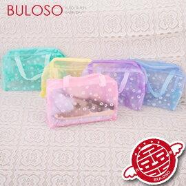 《不囉唆》【A268578】(不挑色)5色碎花透明沐浴包/田園碎花化妝包洗漱包 透明防水收納包