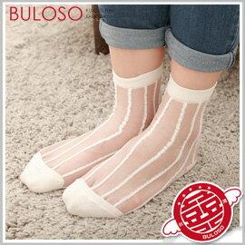 《不囉唆》【A278003】(可挑款) 5色POP直條蕾絲襪 糖果色透明透膚短襪