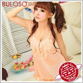《台中不囉唆》【A301169】粉橘柔緞睡襯衣 甜蜜滋味性感睡衣 情趣睡衣 連身衣