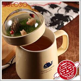 《不囉唆》微景觀陶瓷杯 商城最低/馬克杯/咖啡杯/牛奶杯/杯子/帶蓋(可挑色/款)【A293082】