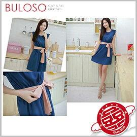 ~不囉唆~甜美藍色連身裙_M 女裝  性感  輕薄  洋裝  (可挑色  款)~A3032